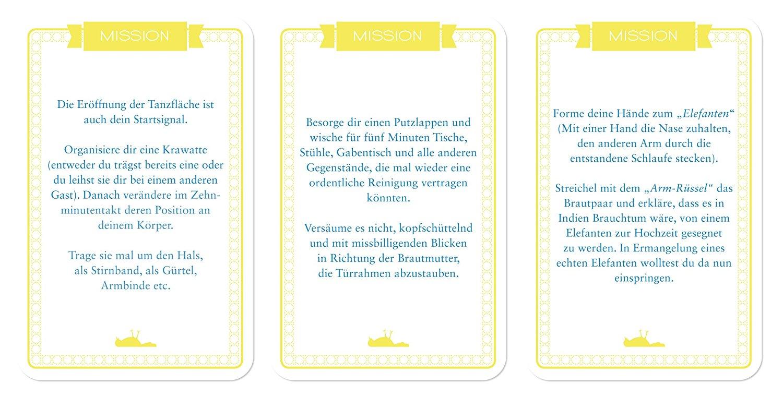Chaoskarten Hochzeitsspiel – das Original – 51 Missionen für 9€